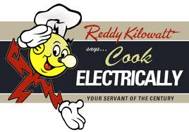 "Reddy Kilowatt says, ""Cook Electrically"""