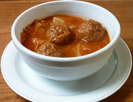 Prokas, Sweet and Sour Cabbage and Meatballs