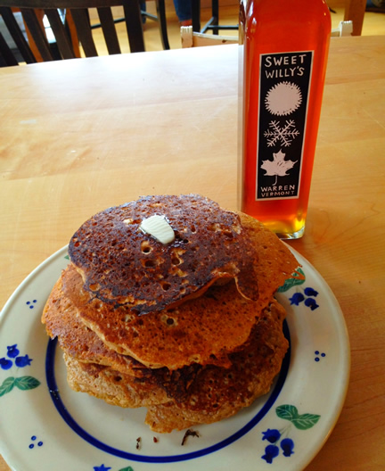 Liz's Whole-Wheat Oatmeal Buttermilk Pancakes