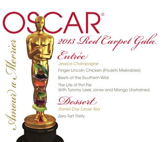 2013 Oscars Menu